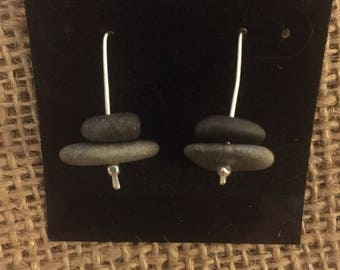 Stacked stone earrings