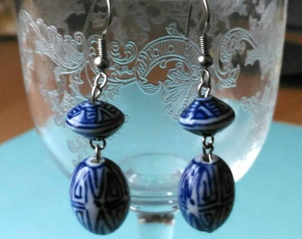 Blue &White porcelain pendents