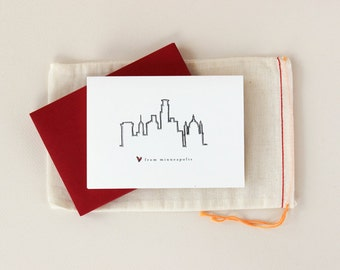 Love from Minneapolis: Skyline Notecard Set