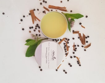 Gentlemen's Beard Balm with Black Pepper, Sandalwood & Patchouli essential oils.  Made with 100% pure, natural and organic ingredients.