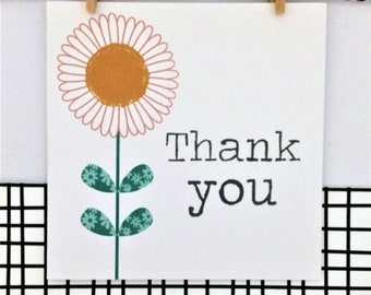 Thank You Card - Daisy Seeds - Greetings Card