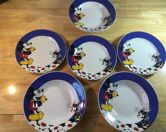 Mickey Mouse Plate Mickey Plate Mickey Tableware Disney Dish Minnie Mouse Bowl & Vintage mice dish | Etsy
