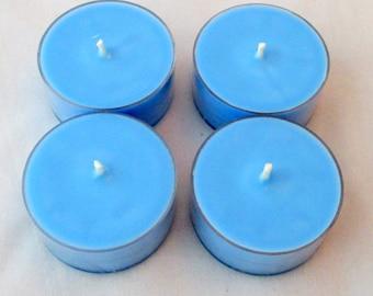 Blueberry tealights, tea candles, blueberry tea light, soy candles, scented tea lights, soy tealights, soy tea lights, blue candles