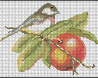 Vintage Bird Needlepoint or Cross Stitch Pattern