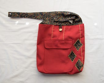 Confetti Red Messenger Bag