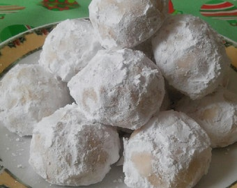 Russian Tea Cake cookies, Mexican Wedding Cake Cookies, Snow Ball Cookies, Italian butter cookies gourmet 2 dozen