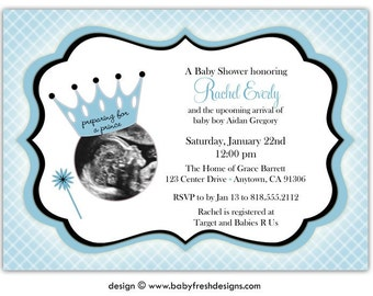 Ultrasound baby shower invites Etsy