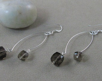 SALE! Protection & Grounding earrings with Smoky Quartz (456)