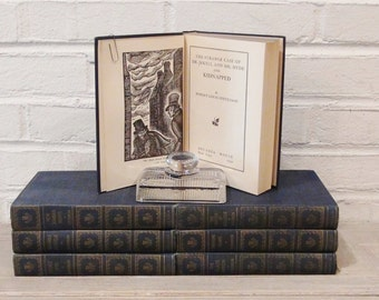 Set of Robert Louis Stevenson Books - 1950 - 7 Volumes - Dr. Jekyll and Mr. Hyde - Treasure Island