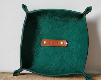 Green/Navy leather Organizer