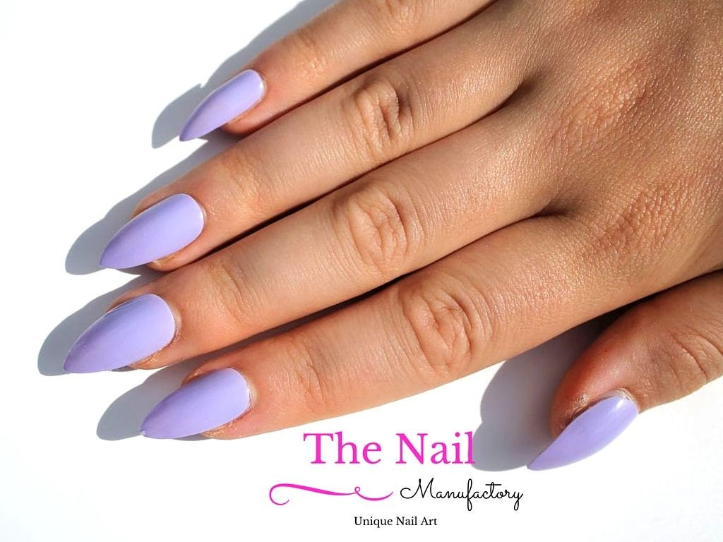 Light Purple Fake Nails - Glossy False Nails - Available As Stiletto ...