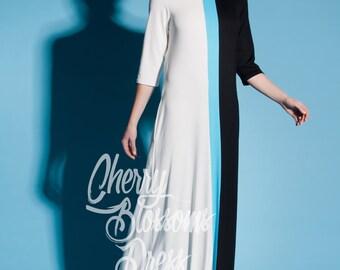 Maxi Summer Dress / Maxi dress with sleeves/ Long Sleeve Maxi Dress / Party Dress / Spring Dress/ Plus Size Evening Dress / Long Dress