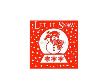 Snowman snow globe svg for digital download