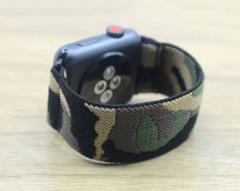 Apple Watch Band 38mm 42mm,Stretch Elastic Band-Camo
