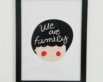 Print -We are family-