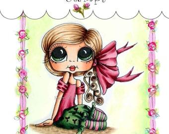 My-Besties Clear Rubber Stamp Big Eye Besties Big Head Dolls Tiny Tilda  MYB-0083  By Sherri Baldy