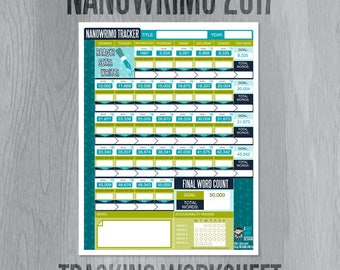 NANOWRIMO 2017 Writing Tracker