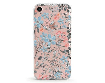 Sale 50% OFF, Floral, Clear Soft Phone Case, iPhone 8, iPhone 7, iPhone 7 plus, iPhone 6, iPhone SE