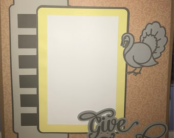 Give Thanks 12x12 Scrapbook Page