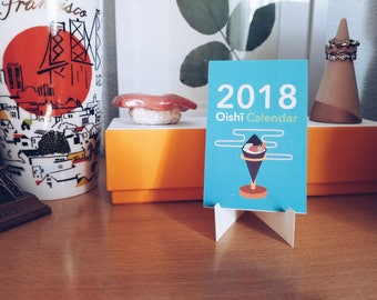 Desk Calendar 2018, Mini Desk Calendar 2018, 2018 Desk Calendar with stand, Mini Desk Calendar, Monthly Calendar, Cute Coworker Gifts, 2018