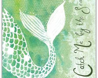 The sea handmade 15cm x 15cm greeting card