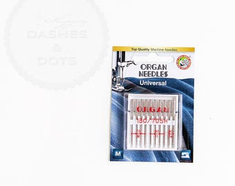 "Sewing Machine Universal Needles, ""ORGAN"" Top Quality Sewing Machine Universal Needles - 10 pcs, sizes 9, 11 and 14"