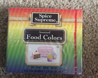 Food coloring (4 color count)