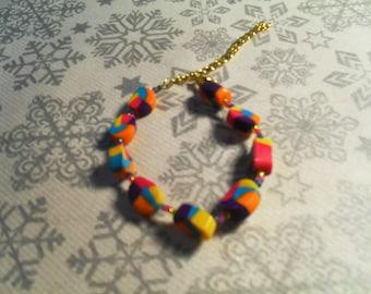 beautiful bracelet trend, handmade, stylish, original (multicolor)