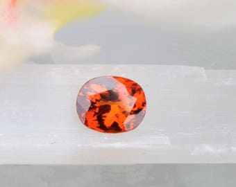 Spessartite Garnet 4.73ct Cushion Shape January Birthstone