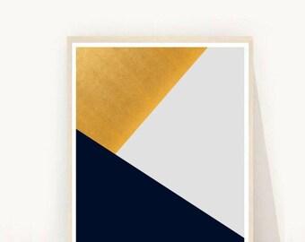 Grey Triangle Print, Geometric Art, Printable Wall Art, Triangles Print, Instant Download, Modern Wall Art, Mountain Print, Grey Triangles