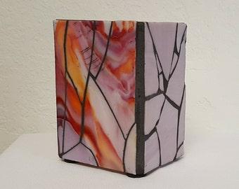 """Vase - Mixed Pink Mosaic 5"""""""