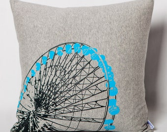 Cushion in grey jersey Ferris wheel for children