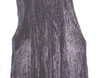 Long Party Dress, Black Heavy Crushed Velvet