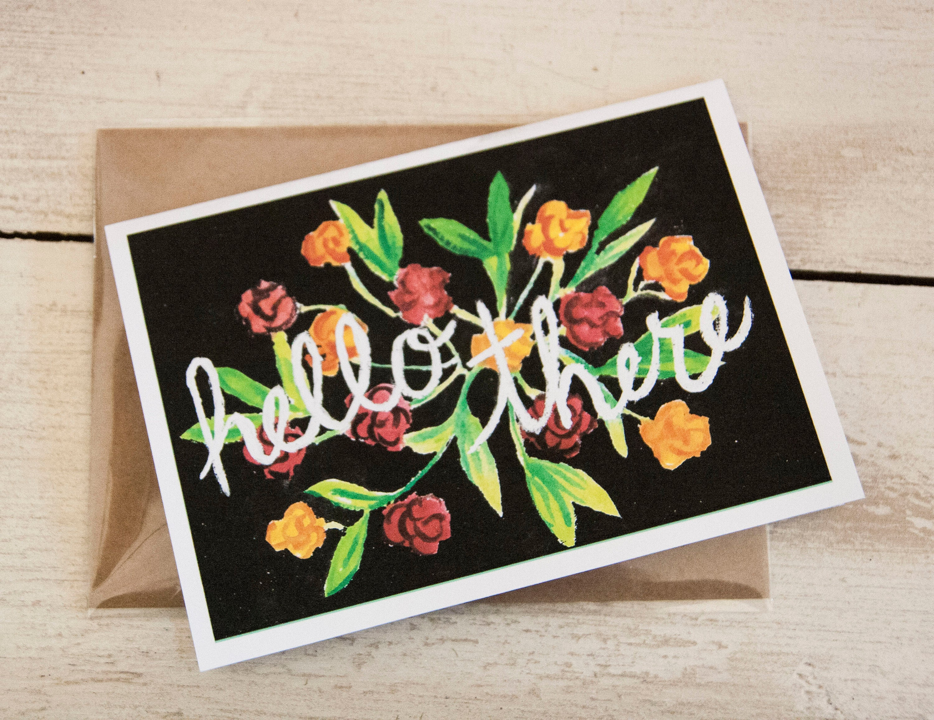 Hello There Card 5x7 Blank Greeting Card