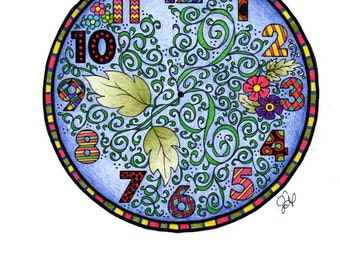 Clock Coloring Page!