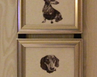 Dachshund Doxie Dog Print Picture  Frame Collage Wall Hanging Art Decor