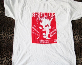 The Screamers, Vintage Flyer T-Shirt Mabuhay Gardens