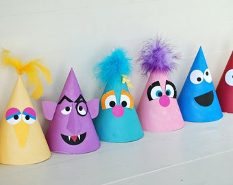 The Sesame Collection - (15) Custom Party Hats