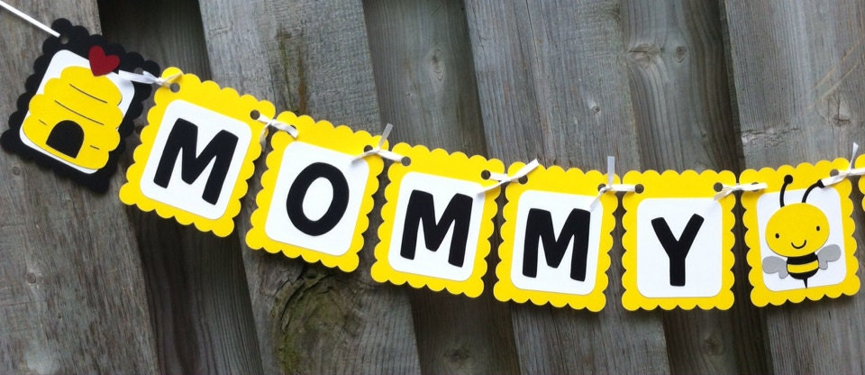 Mommy To Bee Baby Shower Banner Theme Party Decorations