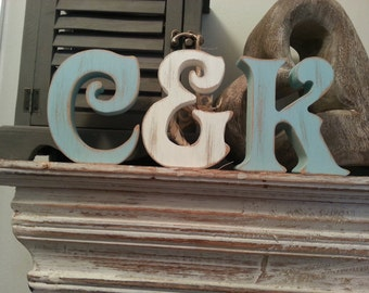 Wooden Wedding Letters - Set of 3 - Photo Props - 15cm