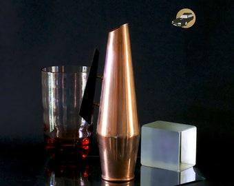 French copper pitcher jug Vintage 1940's mid century pitcher Vase bottle vase container Flower Bouquet Art Deco modern free form