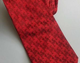 Vintage red Escher silk tie