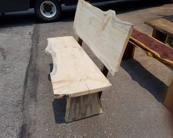 Wedding Guest Book Bench -- WITH BACK