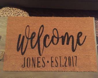 welcome mat // hand painted door mat