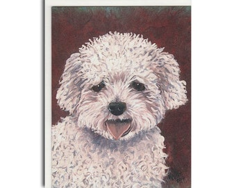French Poodle Notecard - French Poodle Card - Dog Stationery