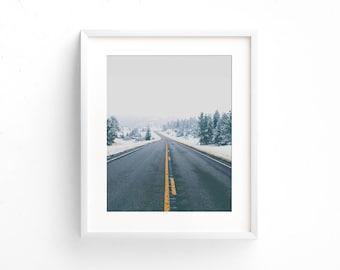 "landscape photography, large landscape wall art, minimalist landscape, large prints, large wall art, large art, minimalist, art - ""Snow Day"""