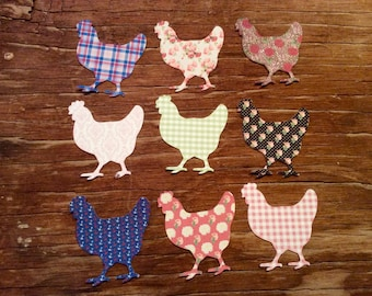 French Country chicken cut outs die cuts paper cuts