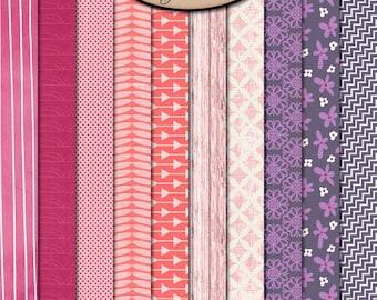 Digital Scrapbook: Paper, BFF Patterned Paper Pack
