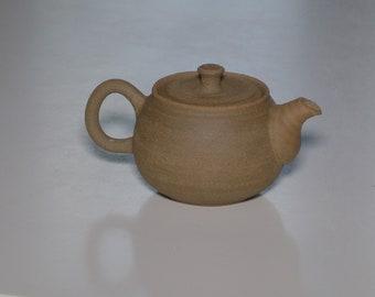 Lightly grogged high-iron clay teapot, 90ml