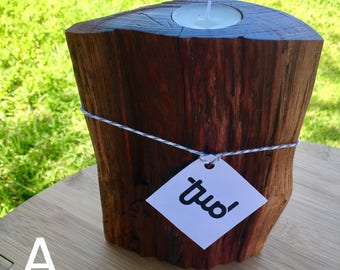 Rustic Wooden Candle Stand,  Tea light Candle Stand, One-of-a-kind Candle Stand